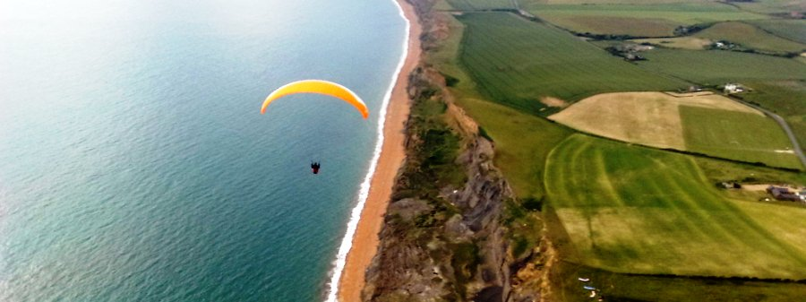 Paragliding. The Caledon Guest House, Cowes, Isle of Wight