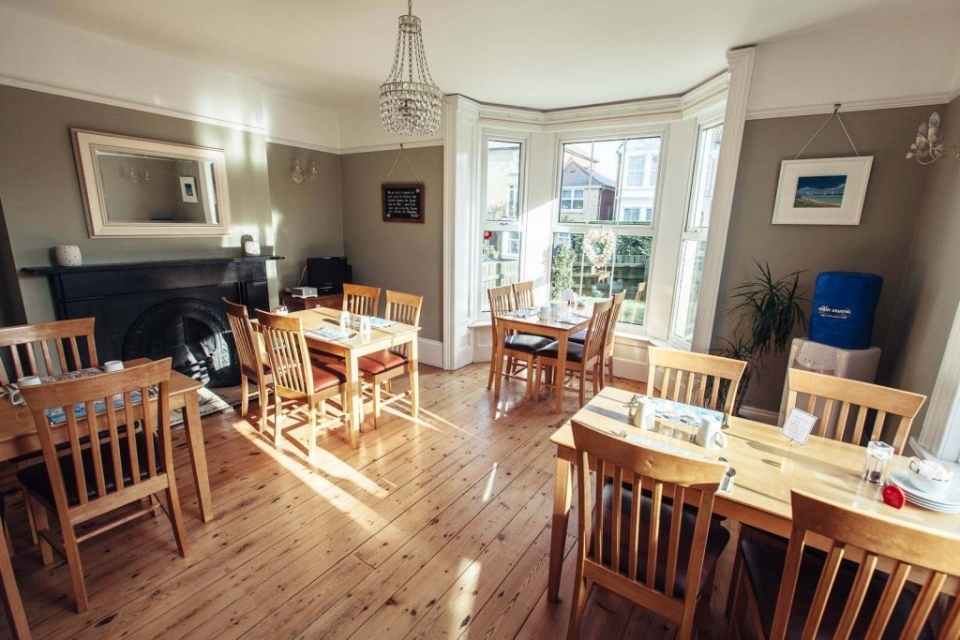 Breakfast at The Caledon Guest House is served in our bright and spacious dining room - Isle of Wight bed and breakfast