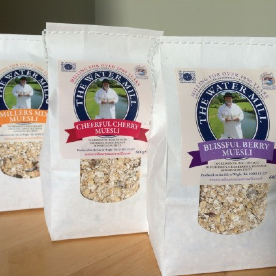 Calbourne Water Mill Muesli served at The Caledon Guest House bed and breakfast in Cowes on the Isle of Wight