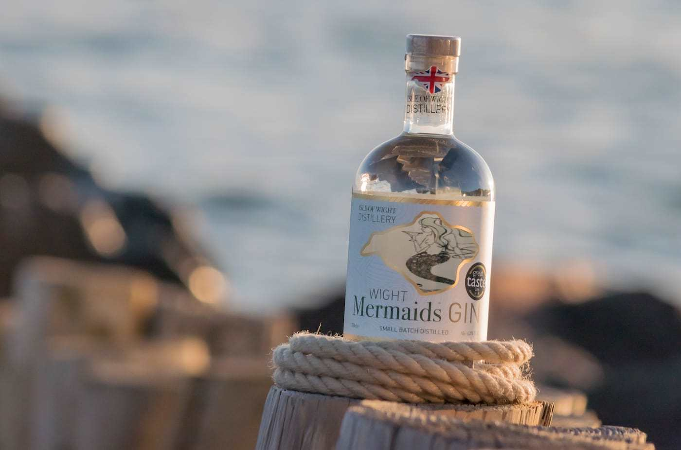 Wight Mermaids Gin at The Caledon Guest House, Bed and Breakfast, Cowes Isle of Wight
